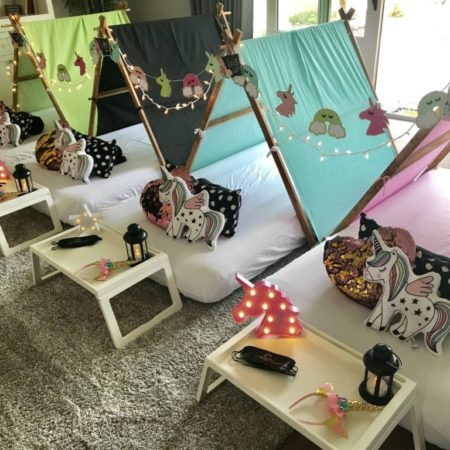 Magical Dreams teepee party theme unicorn party theme fashionable, comfortable, themed teepees for sleepover parties child's sleepover party from ordinary to extraordinary (2)