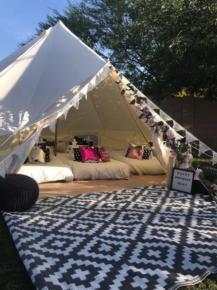 Desert Glamping 5m Bell Tent For Overnight Sleepovers Or