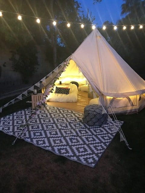 Glamping 5m Bell Tent For Overnight Sleepovers Or Event